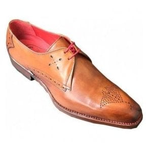 Jeffery West Brown Leather Mahogany Shoe