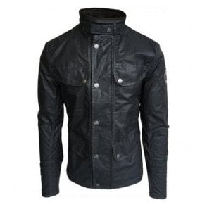 Matchless 'Holland' Black Cotton Blend Jacket 110072 10004W 6006