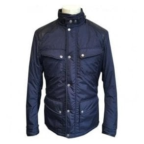 Matchless 'Mallory Park Deluxe' Blue Jacket With Hidden Hood 110066 14028