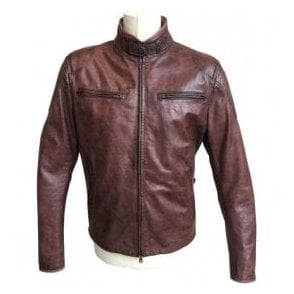 Matchless 'Osborne' Burgundy Leather Blouson 113100 90050 3025