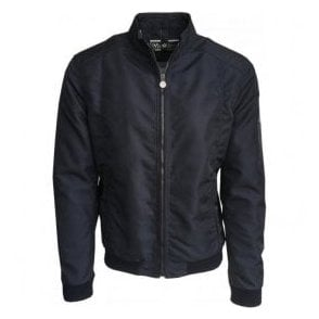 Matchless 'Shawn' Dark Navy Nylon Bomber Jacket 110152 14032 5002
