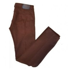 Pal Zileri Ochre Brown Slim-Fit Chinos J31NJ421 84284