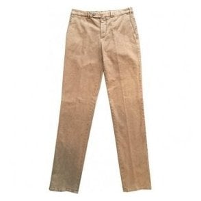 Pal Zileri Regular Fit Light Brown Brushed Cotton Chinos 31NA454-22160 50