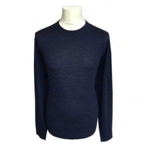 Paul Smith Navy Long-Sleeve Crewneck Merino Wool Pullover PTXD/621R/879 49