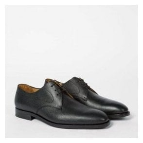 Paul Smith Shoes 'LEO' Black Grained Leather Derby Shoes - SSXD T092 OXG - B