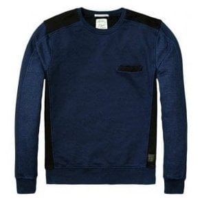 Scotch & Soda HOME ALONE Crewneck Blue Sweater 134323