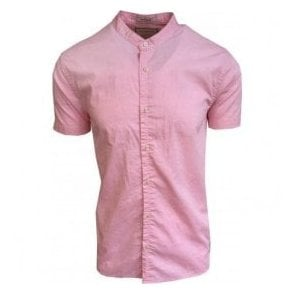 Scotch & Soda Pink Classic Oxford Short-Sleeve Shirt 142759