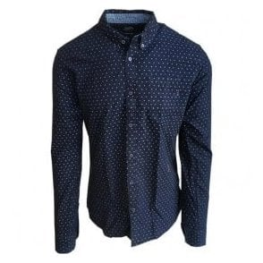 Scotch & Soda Pure Indigo All-Over Bell Print Shirt 132970