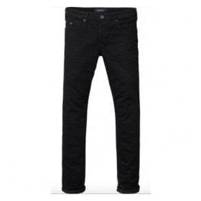 Scotch & Soda Ralston Stay Black Regular Slim Fit Denim Jeans 137644