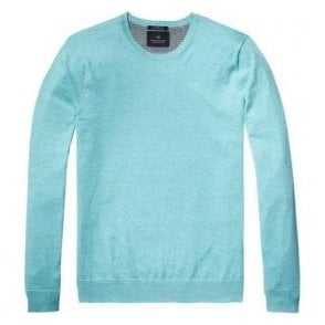 Scotch & Soda Surf Blue Melange Crewneck Pullover 136542