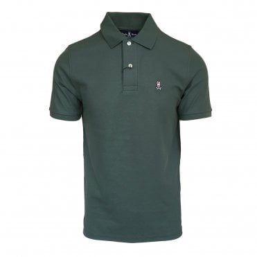 Psycho Bunny Military Green Polo Shirt
