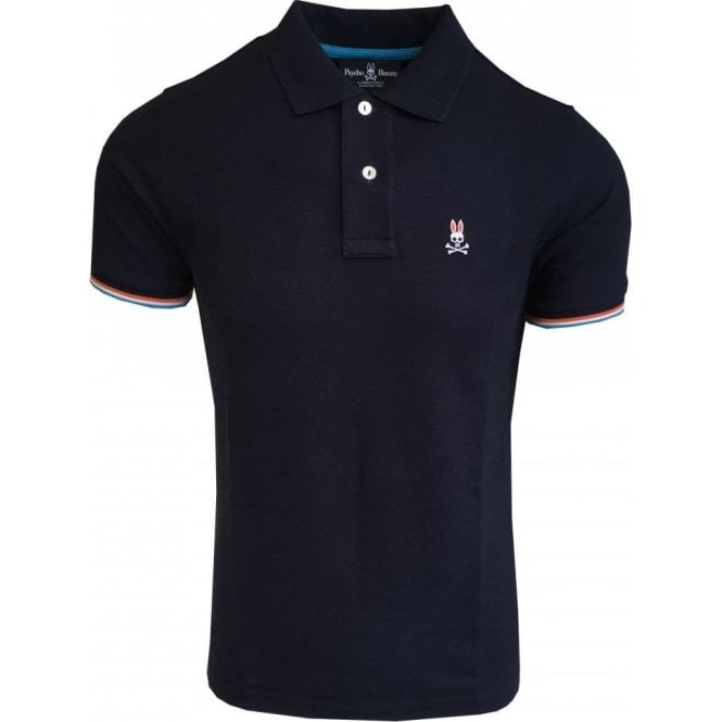 Psycho Bunny St Croix Navy Polo Shirt With Contrasting Trims B6K657B1PC NVY