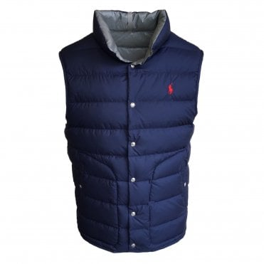 Ralph Lauren Polo Blue & Grey Reversible Gilet