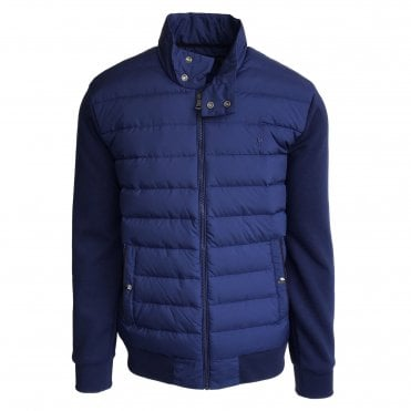 Ralph Lauren Polo Blue Sweatshirt with Quilted Body