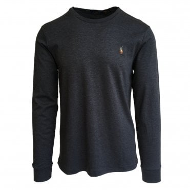Ralph Lauren Polo Charcoal Grey Soft-Touch T-Shirt