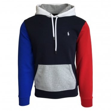 Ralph Lauren Polo Colour-Blocked Hooded Sweatshirt