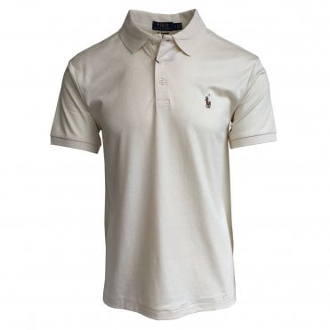 Ralph Lauren Polo Cream Soft-Touch Polo Shirt