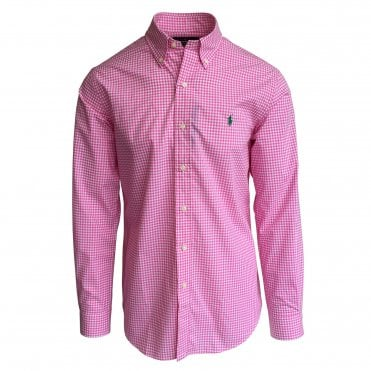 Ralph Lauren Polo Gingham Shirt in Pink