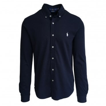 Ralph Lauren Polo Navy Knitted Oxford Shirt