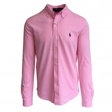 Ralph Lauren Polo Pink Knitted Oxford Shirt