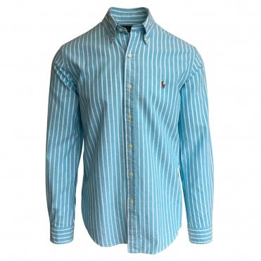 Ralph Lauren Polo Turquoise Stripe Oxford Shirt