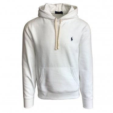 Ralph Lauren Polo White Hooded Sweatshirt