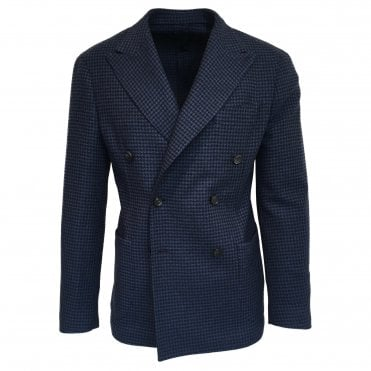 RF Sartori Blue Dog Tooth Double Breasted Jacket