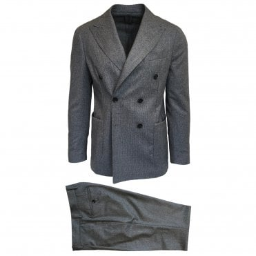 RF Sartori Grey Double Breasted Suit