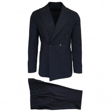 RF Sartori Navy Double Breasted Suit