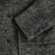 Scotch & Soda Atelier Scotch Double Breasted Herringbone Coat in Charcoal. 14080811258