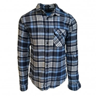 Scotch & Soda Blue Brushed Check Shirt