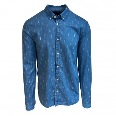 Scotch & Soda Blue Print Shirt