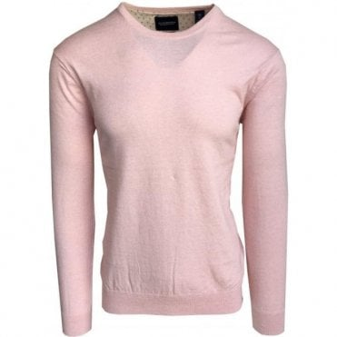 Scotch & Soda Cashmere & Cotton Pink Crewneck Pullover 132988