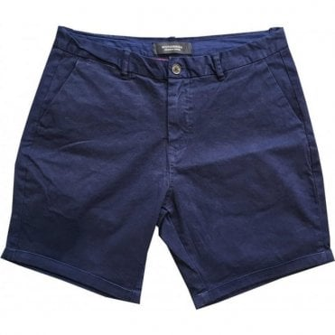 Scotch & Soda Garment Dyed Navy Chino Shorts 142422