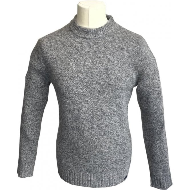 Scotch & Soda Grey Crewneck Knitted Wool Blend Jumper 139805
