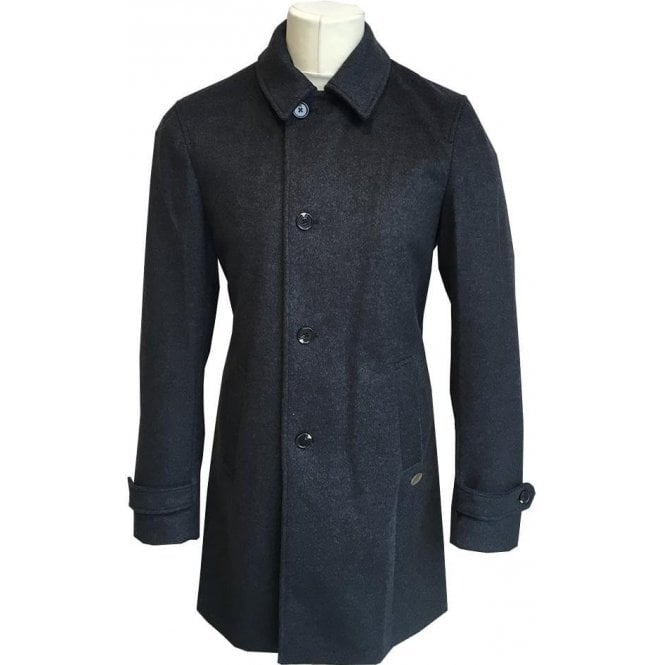 Scotch & Soda Grey Wool Blend Overcoat 139440