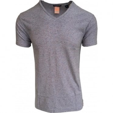 Scotch & Soda Lilac Spotted V-Neck T-Shirt 142646