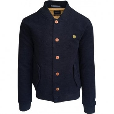 Scotch & Soda Navy Cotton Blend Bomber Jacket 137539 57