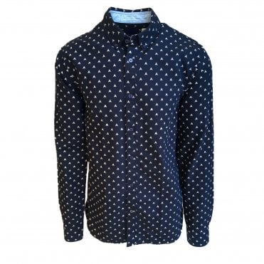 Scotch & Soda Navy Print Shirt