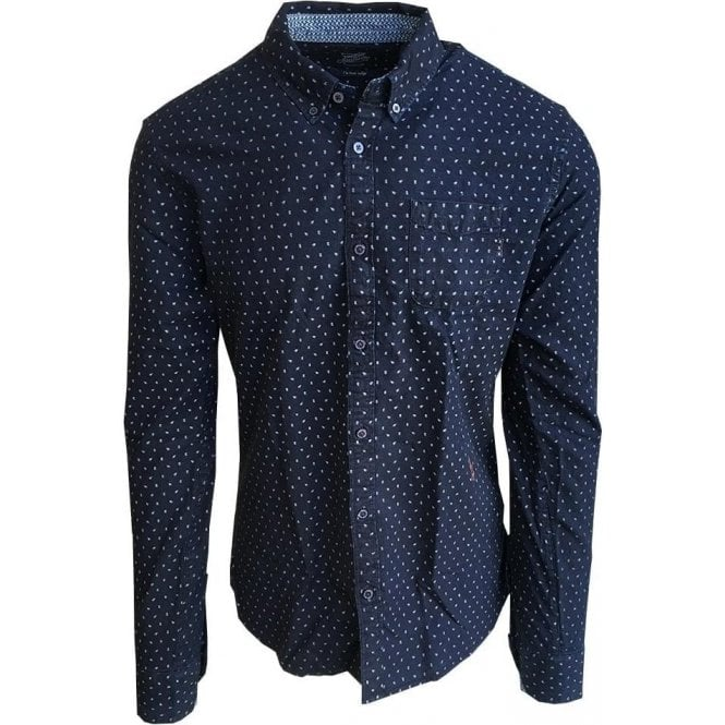 b60220d65af Scotch & Soda Pure Indigo All-Over Bell Print Shirt 132970