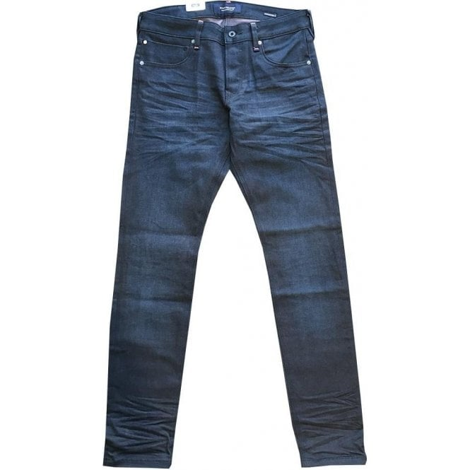 Scotch & Soda Ralston Regular Slim Fit Garment Dyed Cobalt Blue Maritime Jeans 141202