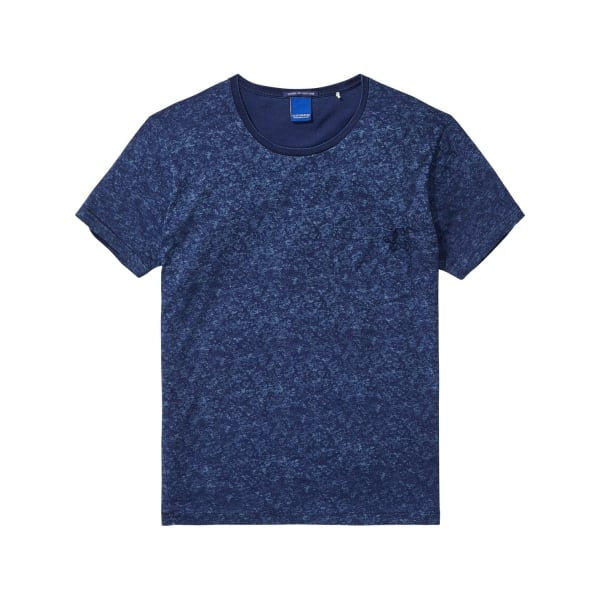 scotch and soda indigo printed t shirt in dessin b 100091. Black Bedroom Furniture Sets. Home Design Ideas