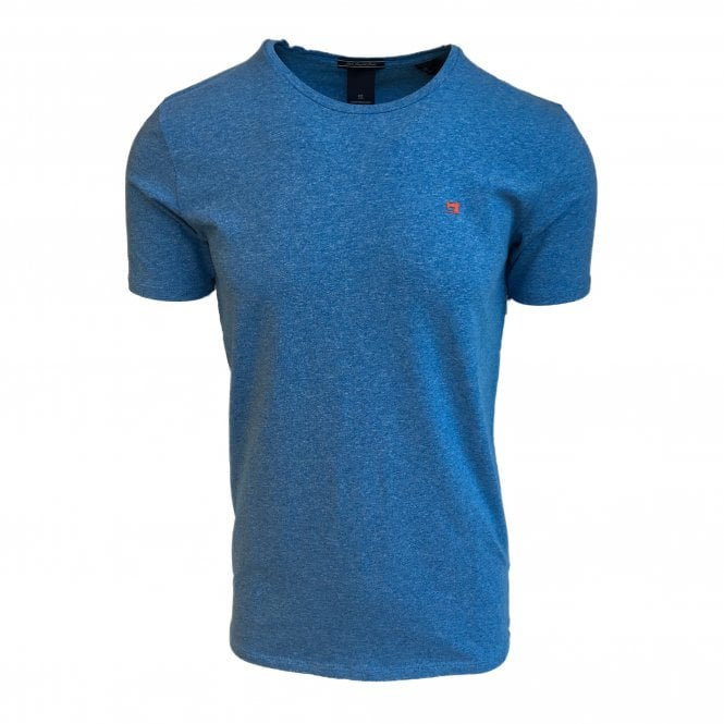 Scotch & Soda Sky Blue Crewneck T-Shirt
