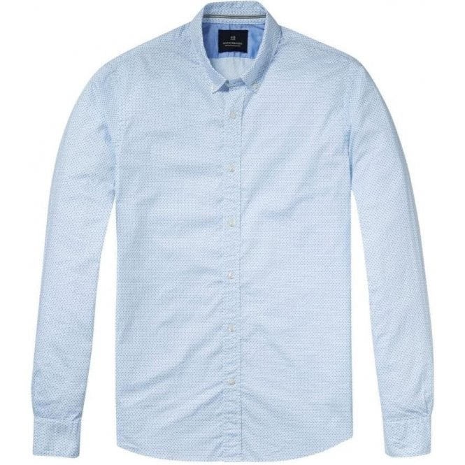 Scotch & Soda Slim Fit Light Blue Shirt 136322