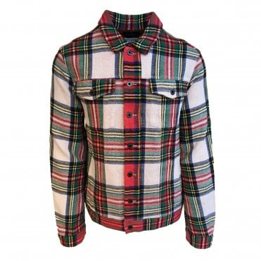 Scotch & Soda Tartan Trucker Jacket