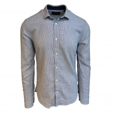 Scotch & Soda White and Navy Patterned Shirt