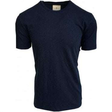 Seven For All Mankind Faded Navy Crewneck T-Shirt S5M2380NV