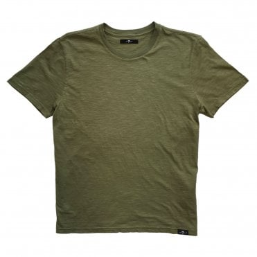 Seven For All Mankind Khaki Green T-Shirt