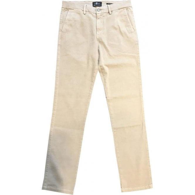 Seven For All Mankind Regular Slim Fit Beige Luxe Performance Chinos SU3T490GZ