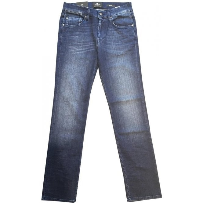 Seven For All Mankind 'Slimmy' Garment Dyed Stretch Cotton Blue Jeans SMSU450HZ